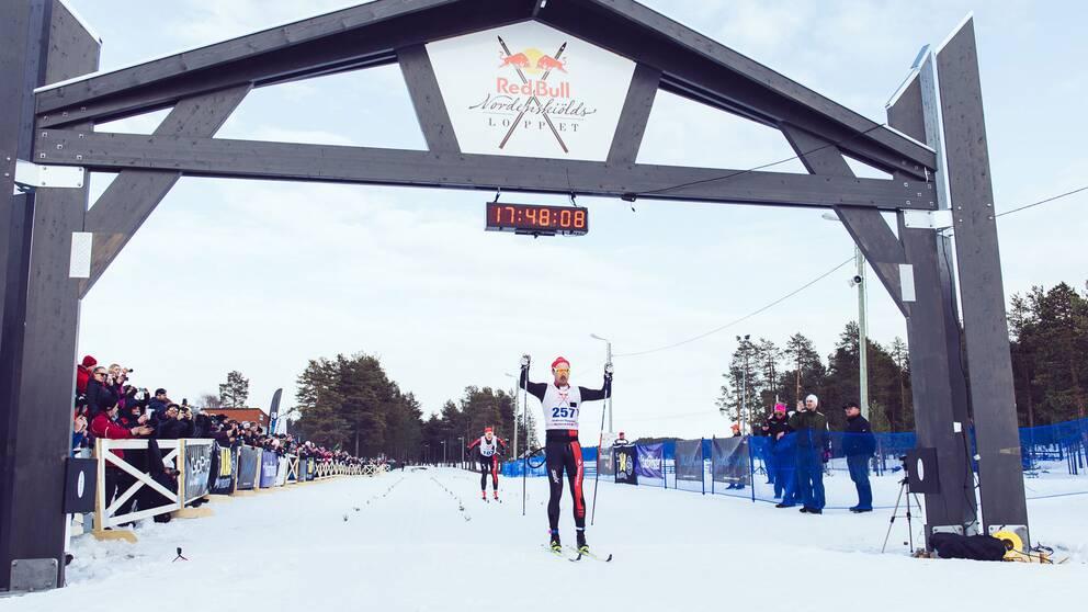 Andreas Nygaard, Norge, vann världens längsta skidtävling, Nordenskiöldsloppet i Jokkmokk.