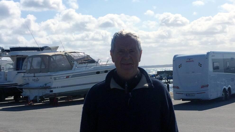Christian Hrabaciko är hamnvärd för Domstens båtklubb i Helsingborg.