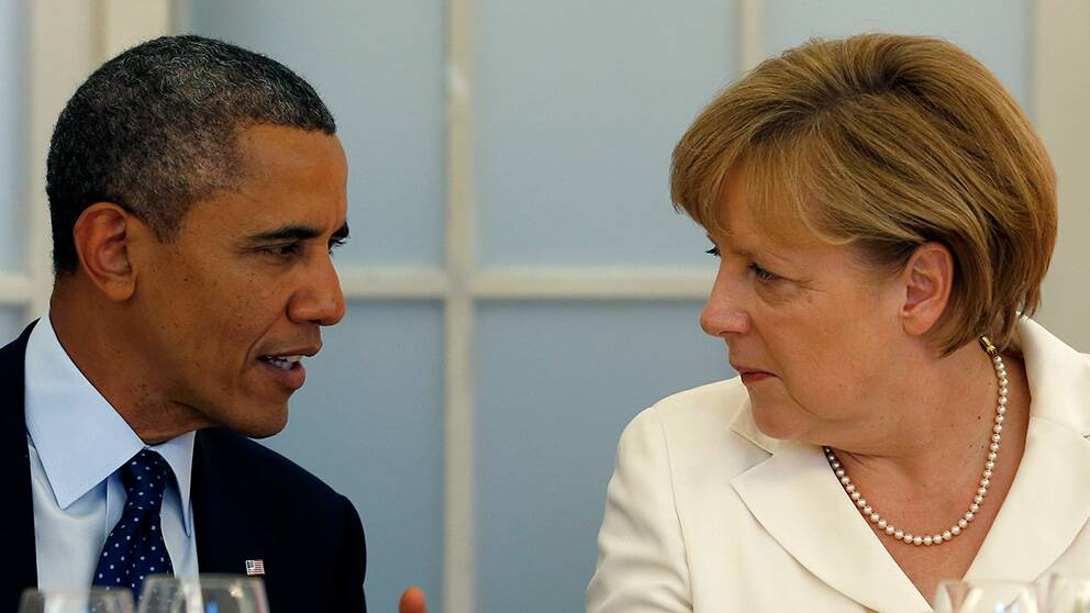 Barack Obama och Angela Merkel