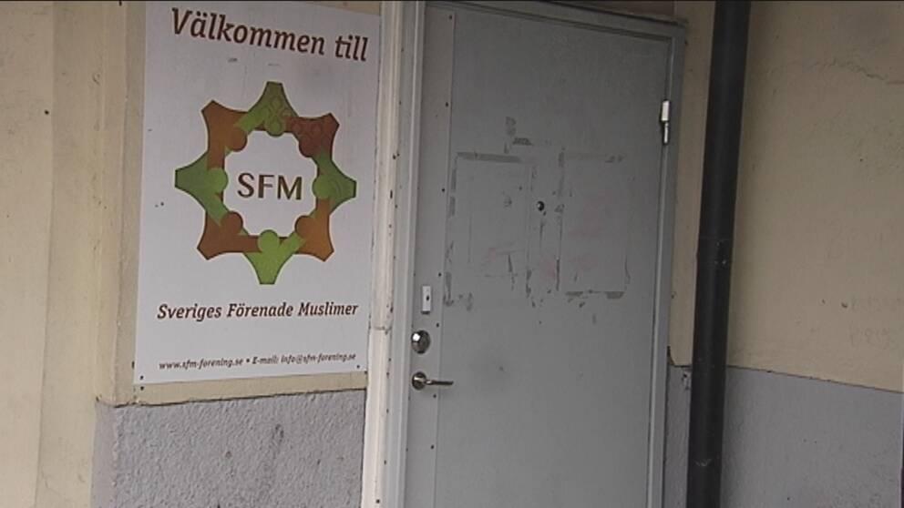 Sveriges förenade muslimers lokal.