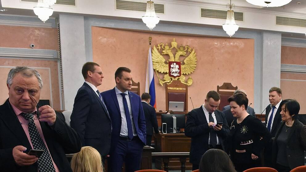 Förhandlingar i Rysslands högsta domstol under torsdagen
