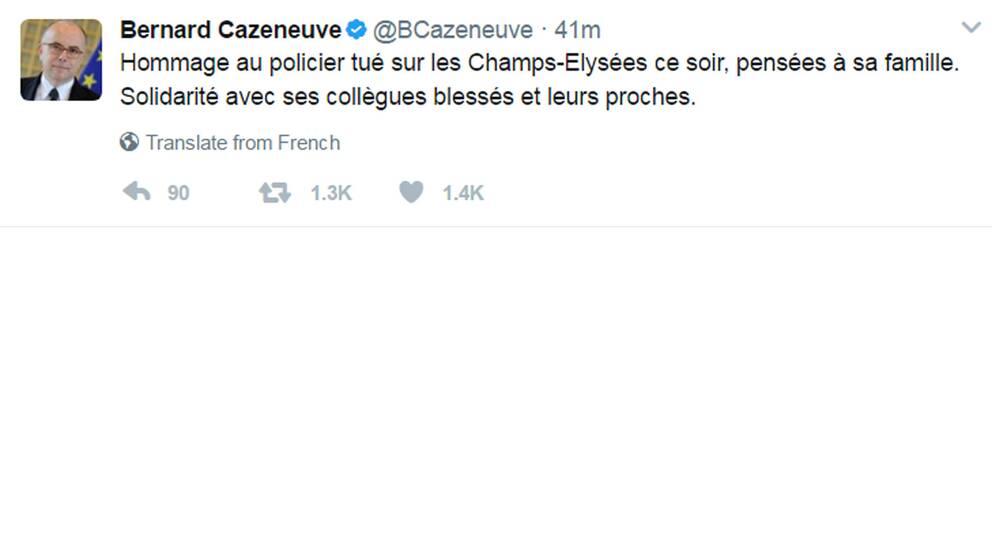 Den franske premiärministern Cazeneuve.