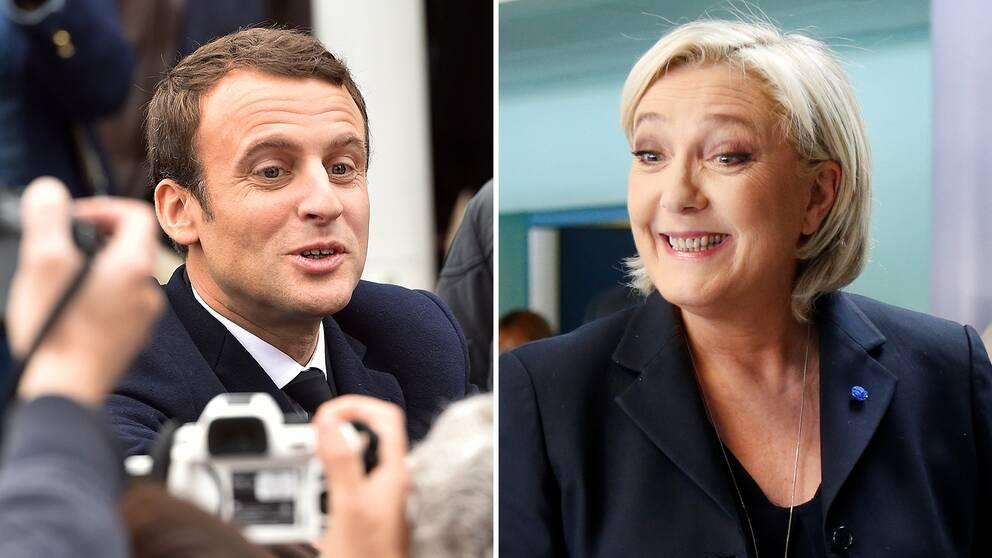 Emmanuel Macron och Le Pen