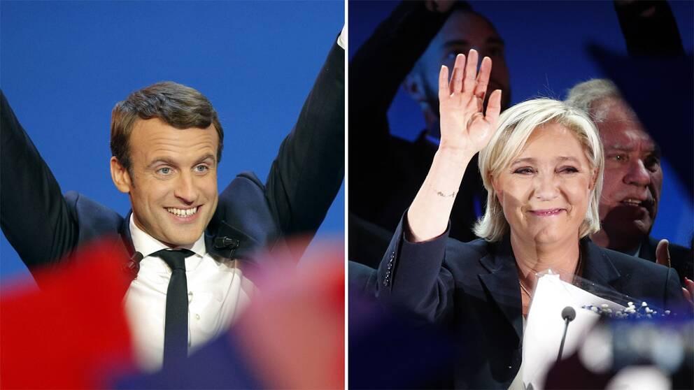 Emmanuel Macron och Marine Le Pen.