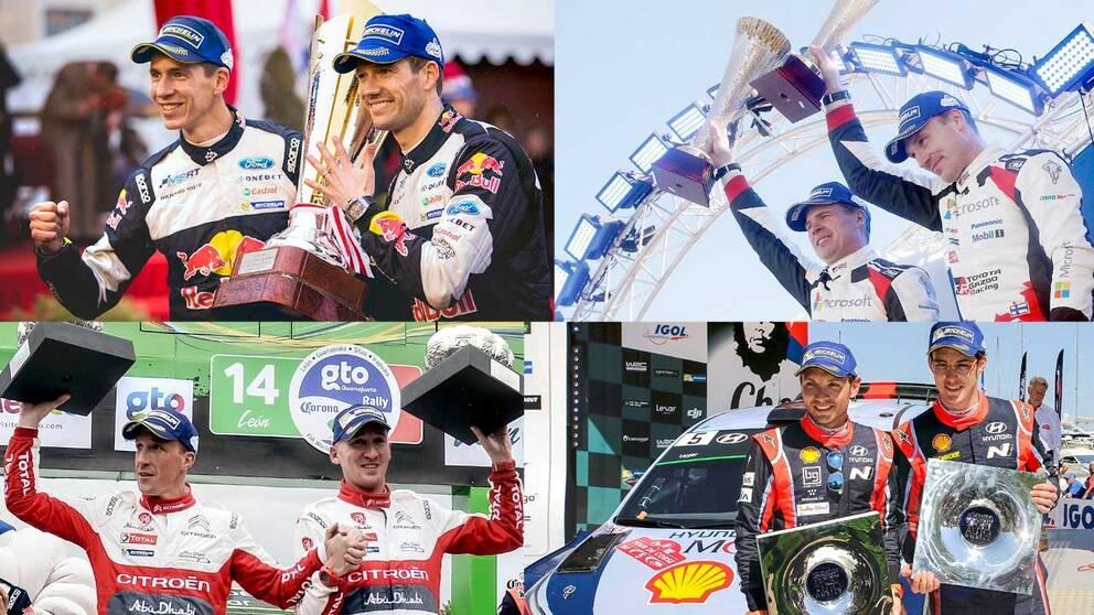 Fyra tävlingar, fyra olika segrare.