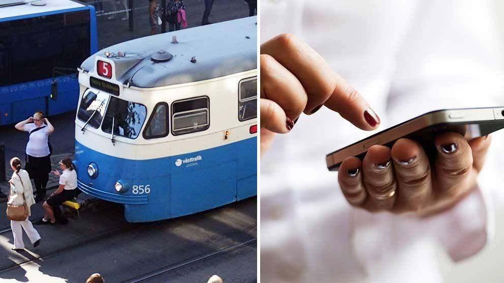 """Spårvagnar och kärleksfulla sms. Enligt en statistisk undersökning skriver Göteborgare """"älskling"""" oftare än andra."""