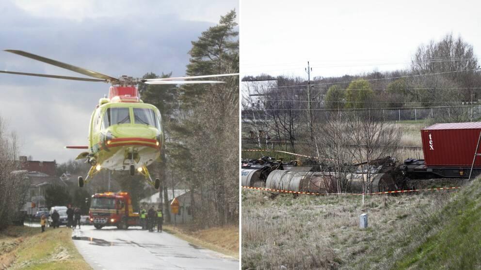 I tisdags inträffade två allvarliga tågolyckor i Västsverige. Först spårade ett tåg med farligt gods ur i Varberg tidigt på morgonen. Olyckan orsakade stora trafikstörningar. Under eftermiddagen omkom sedan en bilist efter att han körts på av ett tåg vid en järnvägsövergång norr om Mariestad.