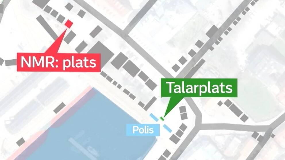 Karta över Visby hamn