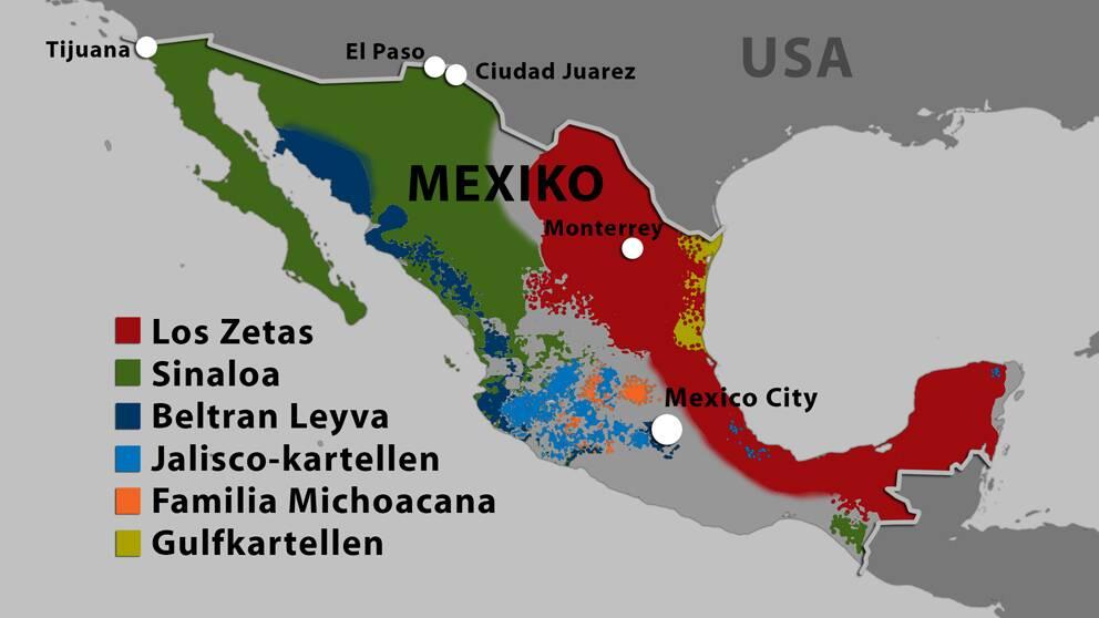 Knarkhandlare gripen i mexiko