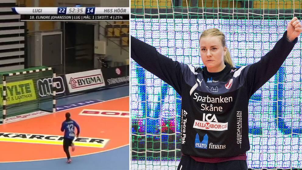 Ida Nilsson, Lugi, blev tvåmålsskytt i första semifinalen.