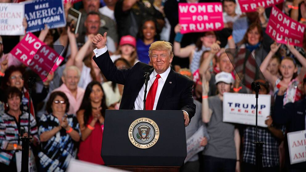 President Donald Trump i Harrisburg, Pennsylvania.