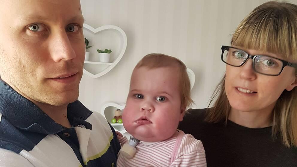 Hjärtsjuka Matilda och hennes föräldrar