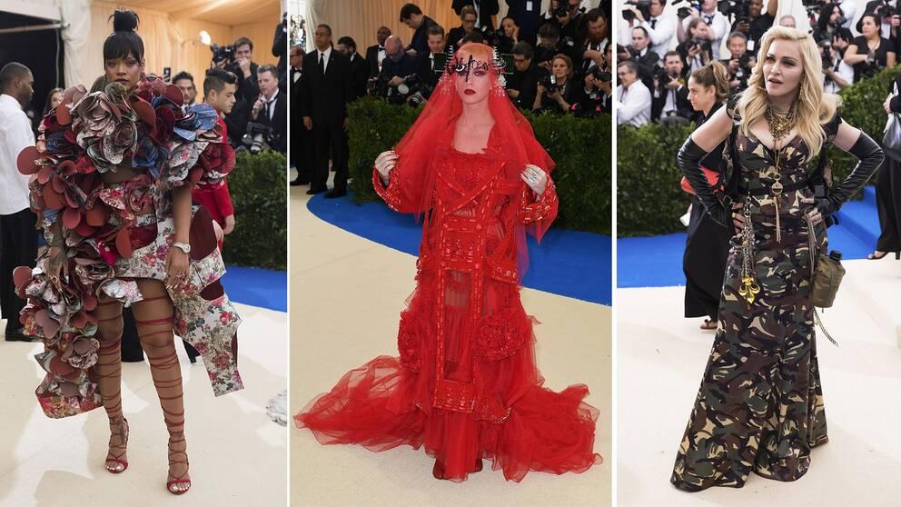 Rihanna i Comme des Garçons, Katy Perry i Margiela och Madonna i Jeremy Scott