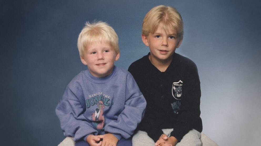 Robin och Christian som barn.
