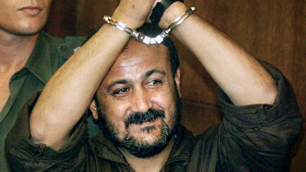 Marwan Barghouti efter gripandet 2002.