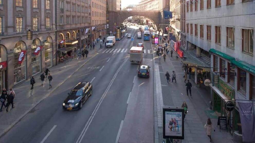 Foto över Kungsgatan i dag