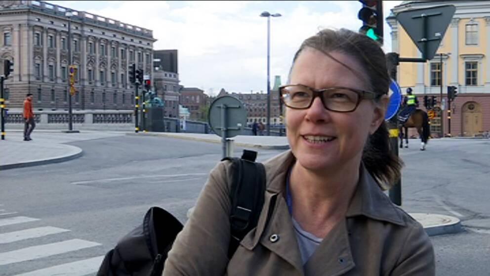 Yvonne Knutsen är en stockholmare som inte störs av trafiken