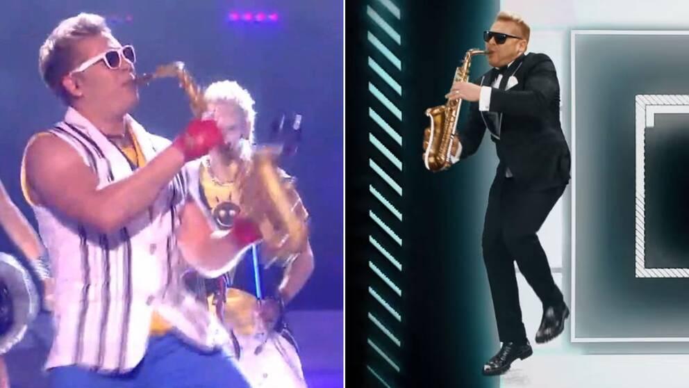 Epic sax guy från 2010 (till vänster) och Epic sax guy anno 2017 (till höger).