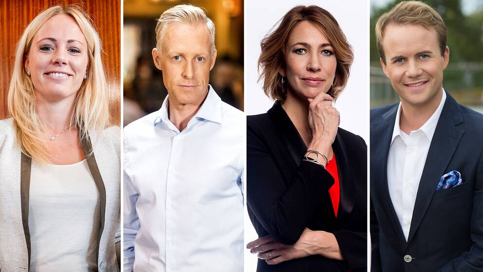 Carolina Neurath, André Pops, Karin Magnusson och Pelle Nilsson.