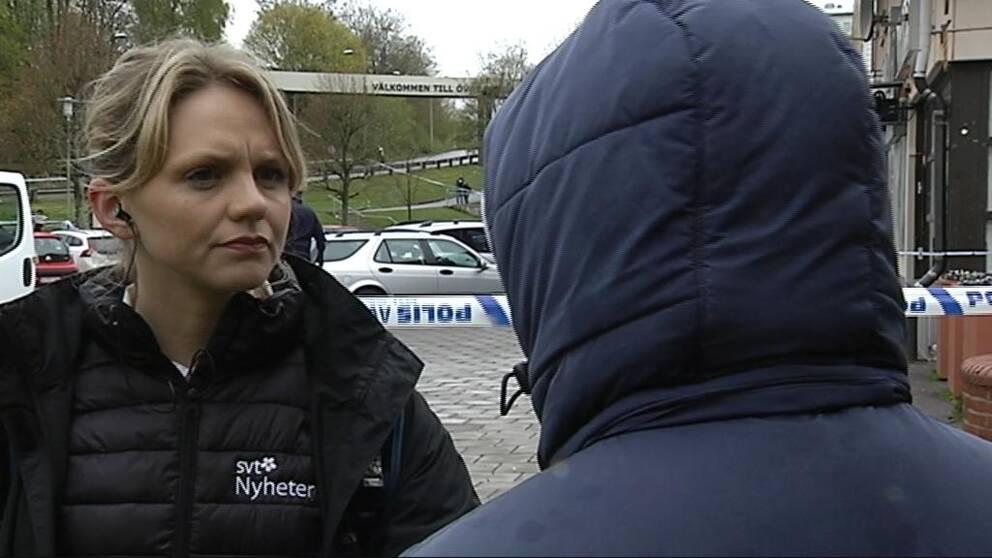 Vittne berättar för SVT:s reporter