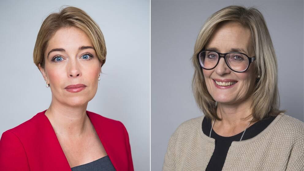 Annika Strandhäll, tf sjukvårdsminister Agneta Karlsson, statssekreterare med ansvar för sjukvårdsfrågor