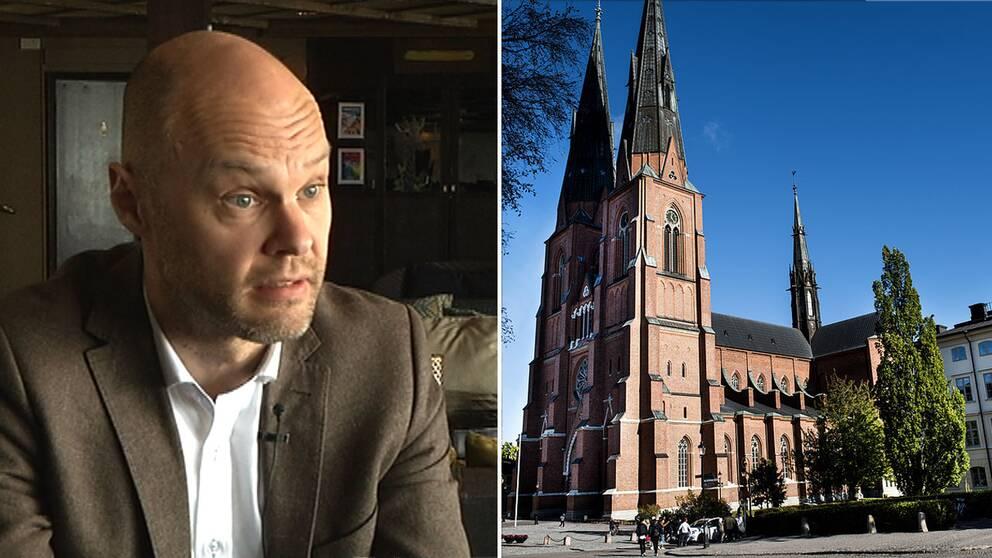 Carl Bexelius och en kyrka