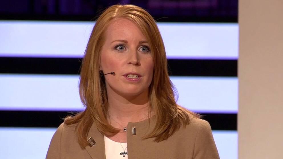 Annie Lööf (C) under partiledardebatten