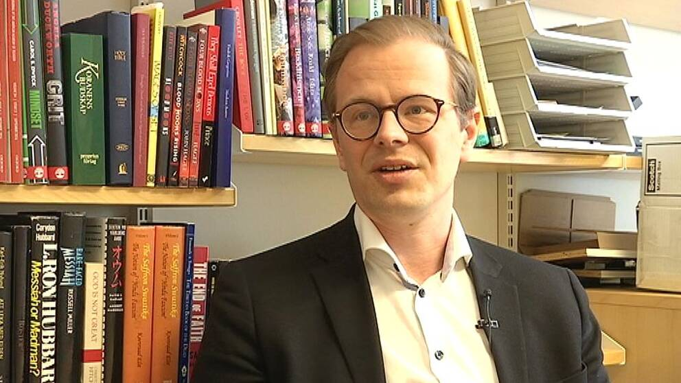 Religionsforskaren Fredrik Gregorius vid Linköpings universitet