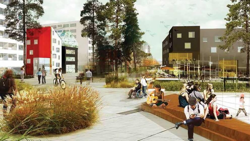 Så här ser visionen ut för Eriksberg och Ekebydalen.