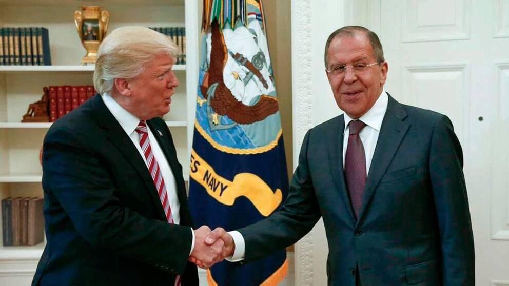 Donald Trump och Sergej Lavrov