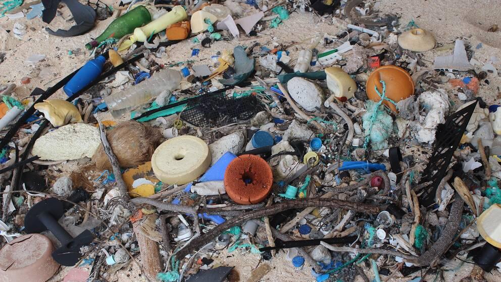 18 ton plast hittades på Henderson Island i Stilla havet.