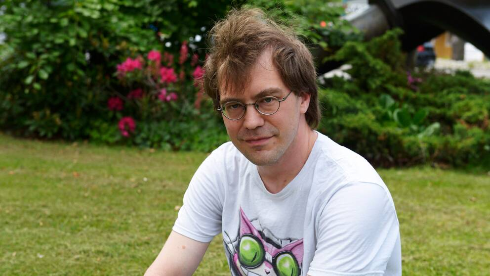 Serievetaren Simon Lundström.