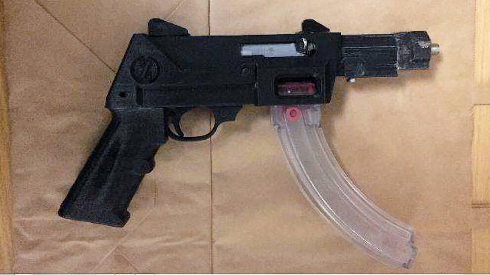Så här ser 3d-vapnet ut som hittades i ett garage.