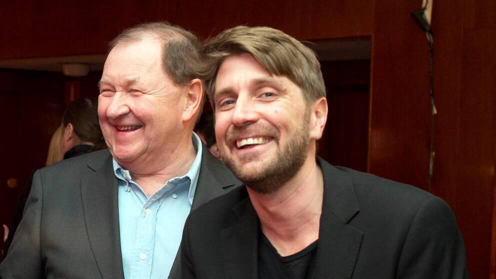 Roy Andersson och Ruben Östlund på Göteborgs filmfestival 2013.