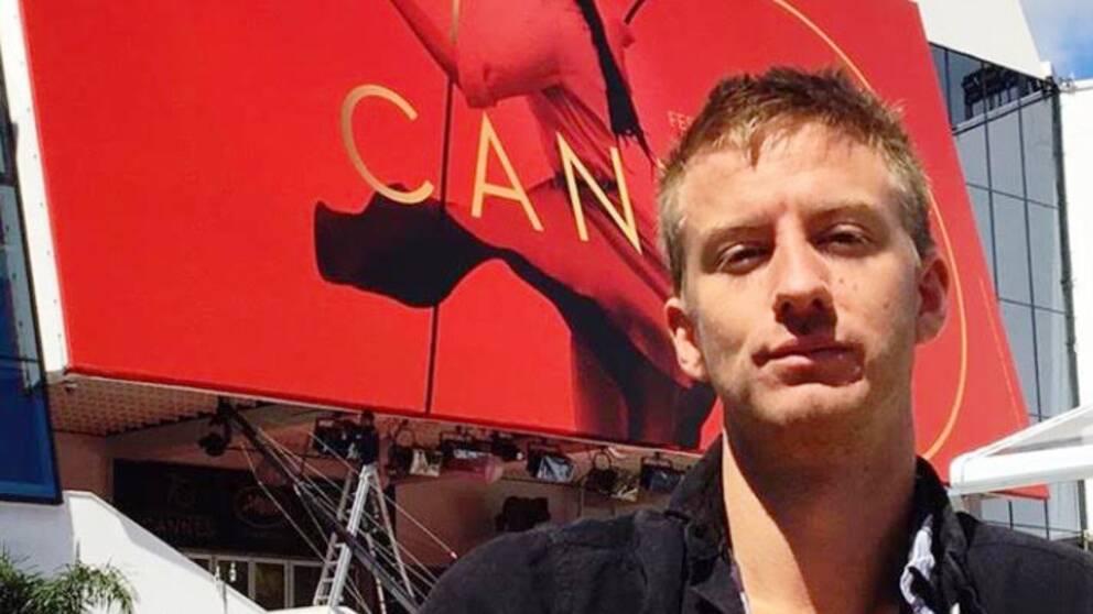 Filip Berg på plats i Cannes.