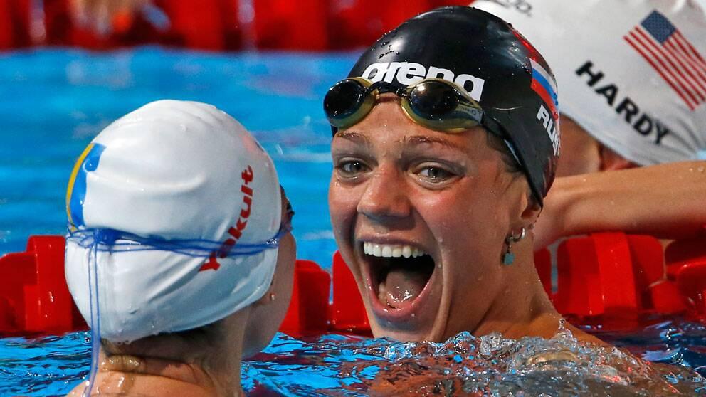 Ryskan simmerskan Julia Epimova när hon 2013 tog medalj i EM.