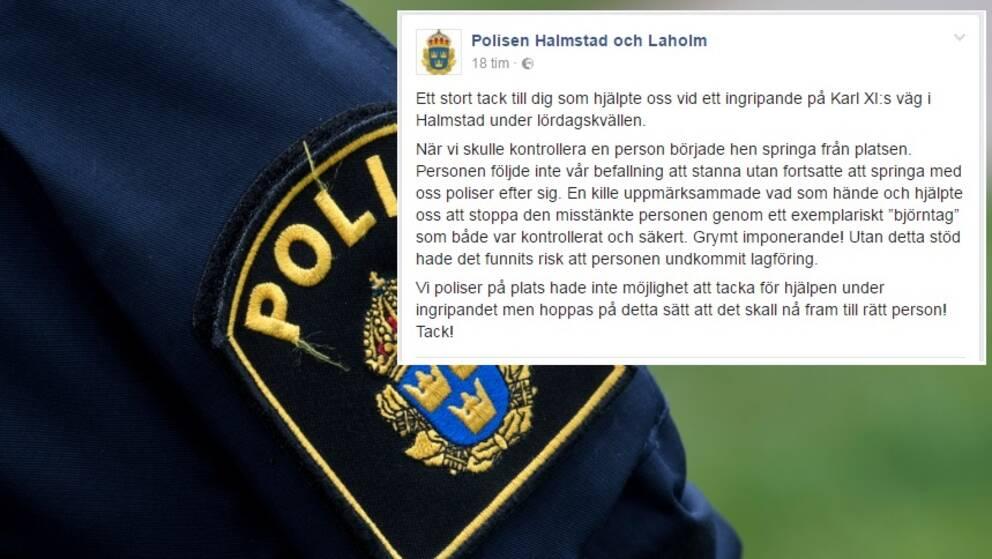 Polis pakord vid ingripande