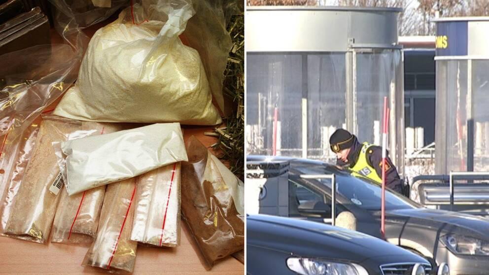 beslagen av narkotika ökar