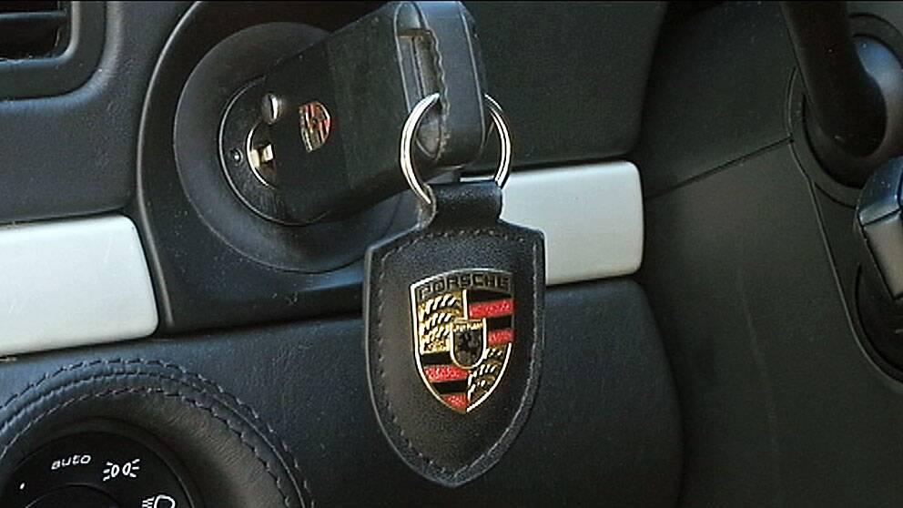 Porsche-bilnyckel
