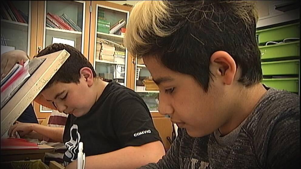 Elever på skolan Söderporten i Norrköping