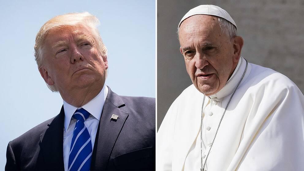Donald Trump och påve Franciskus
