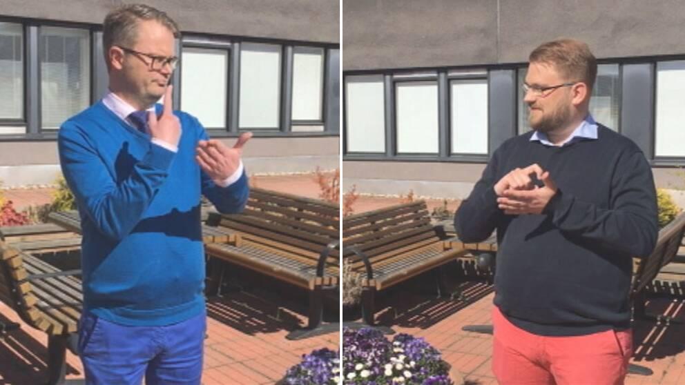 Ola Lundström och Henrik Sundqvist