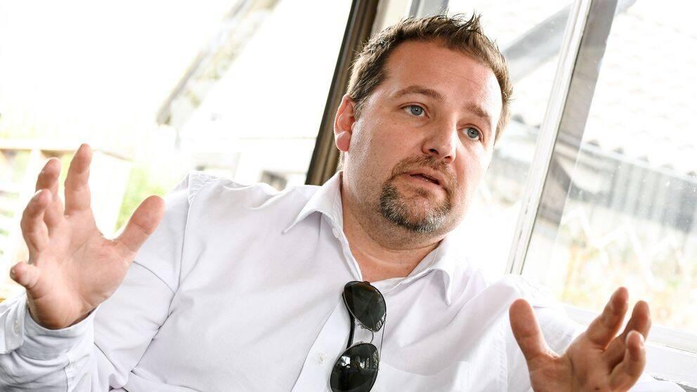 Herman Afzelius, ordförande PFAS-föreningen, i Kallinge.