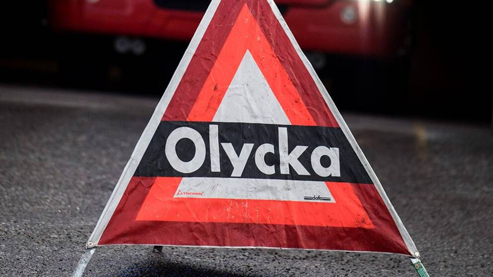 Varning för olycka-skylt