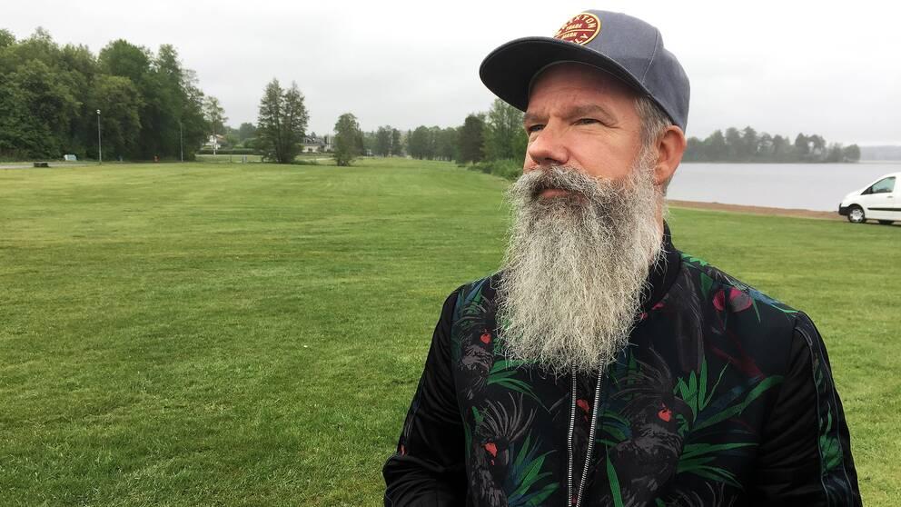 Niclas Lagerstam, festivalgeneral för Putte i parken.