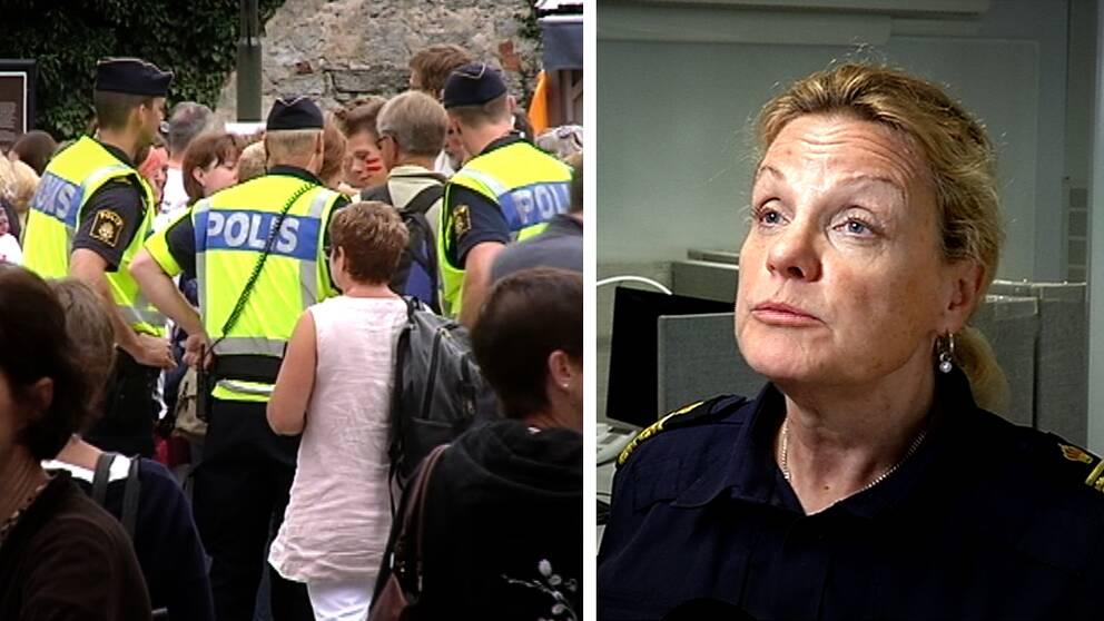 öst Annika Eriksson, polisens kommenderingschef under Almedalsveckan