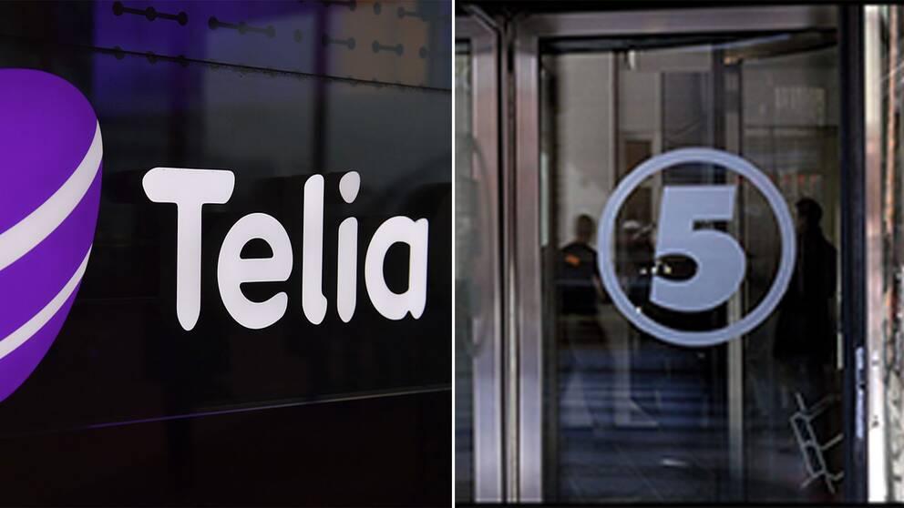 Telia och kanal 5.