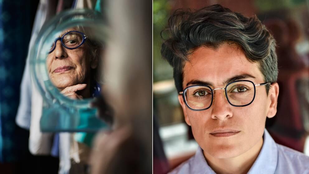 Journalisten och författaren Lawen Mohtadi (till höger) berättar om sin vän Rosa Taikon (till vänster).