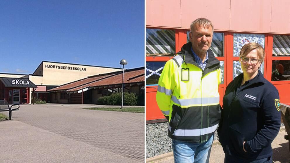 Mats Persson, fastighetsansvarig, och Annika Gripencreutz, säkerhetssamordnare på Falkenbergs kommun.