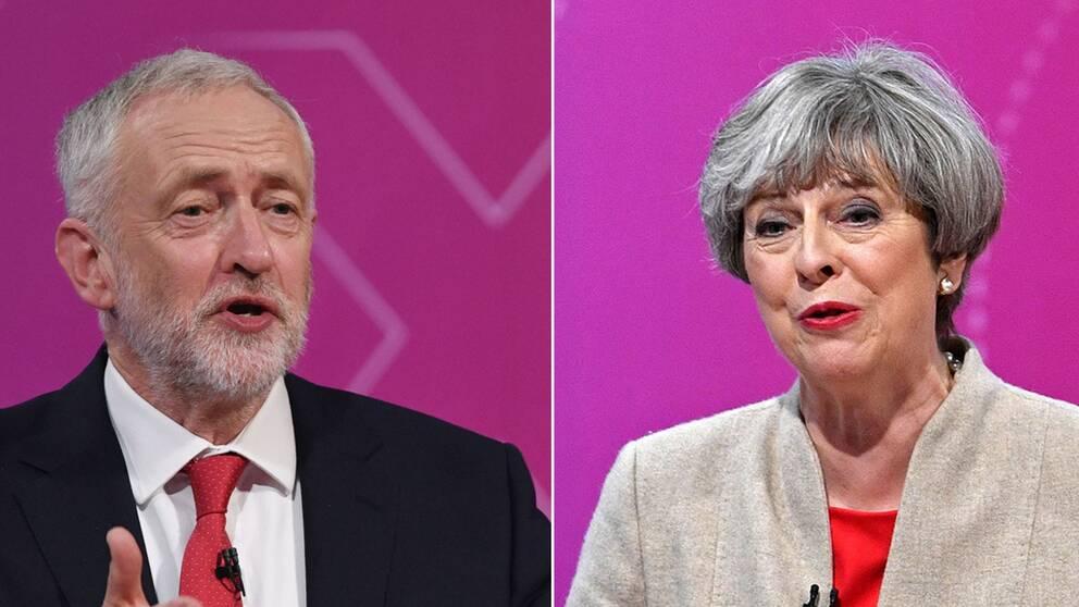 Jeremy Corbyn och Theresa May